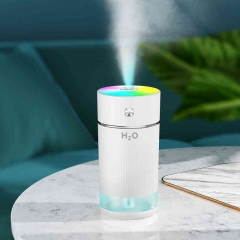Car Portable Rechargeable Ultrasonic Color Cup Humidifier with LED Light