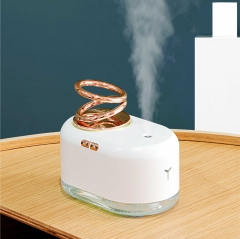 Home Air Humidifier Cool Mist Aroma Diffuser Suspended Double Ring Ultrasonic USB Humidificador