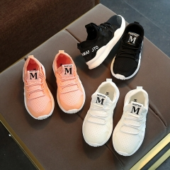 Children's mesh sports shoes baby soft bottom shoes white shoes