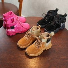 Children's ins super fire sports shoes breathable high-top casual shoes Korean scrub