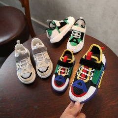 New children's color matching sports shoes men's middle mesh cloth shoes