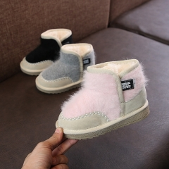 Girls snow boots new winter plus velvet thick snow boots