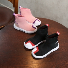 Boys and girls breathable mesh shoes explosion models elastic socks shoes