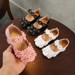 Children's Korean version of the girl's new sugar sleepy flowers single shoes baby shoes breathable soft sole shoes