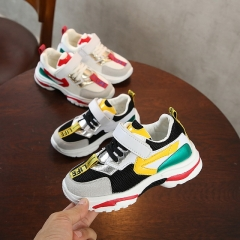New children's sports shoes lightweight white shoes breathable running shoes