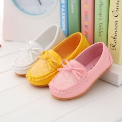 Spring and Autumn Korean version of candy color peas shoes non-slip beef tendon bottom