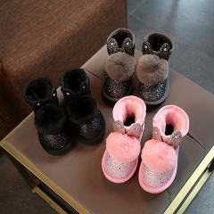 New girls plus velvet snow boots thick cute children's boots Martin boots