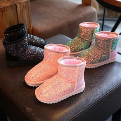 New winter girl warm snow boots