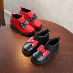 Autumn and winter new children's booties Korean version of the soft bottom non-slip Martin boots