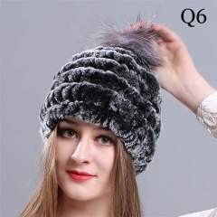 New ladies woven rabbit fur hat