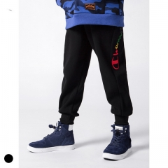 Boy plus velvet not velvet embroidered letter pants