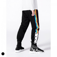 Boy's color matching striped foot elastic pants
