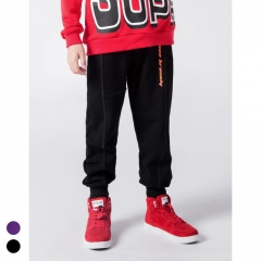 Boy's thick printed letter bundle foot sweatpants