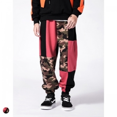 Boys camouflage color matching beam casual pants