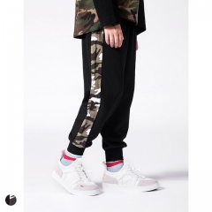 Boy's side camouflage tide brand beam foot sweatpants