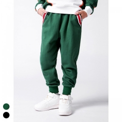 Boy plus velvet thick pants solid color sweatpants