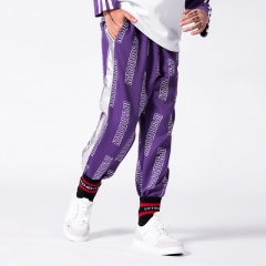 Boy's side reflective strip letters sweatpants