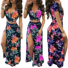 Women's printed floral dress set of 2