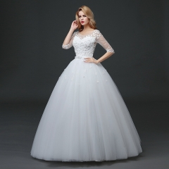 One-shoulder long-tailed wedding dress