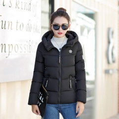 New cotton padded female down jacket cotton hooded jacket