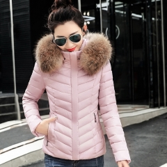 New women's Korean version of the hooded down jacket