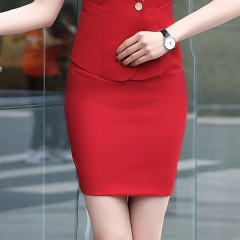 Women's multi-color professional dress skirt