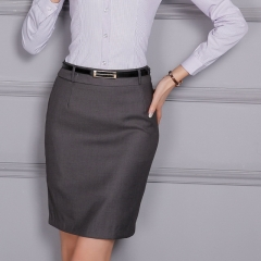 Women's back slit autumn professional dress suit skirt