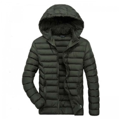 Winter new men's thick casual hooded coat