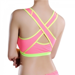New ladies cross-back sweat-absorbent sports vest