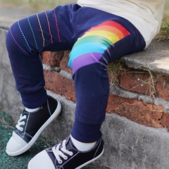 New children's ins explosion cotton rainbow print trousers