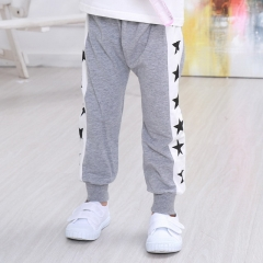 New autumn star print children's wild cotton casual trousers