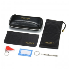 Glasses case glasses cloth glasses bag anti-blue light detection card anti-blue light detection light screwdriver set