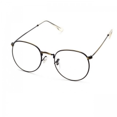 Men and women metal frame oval glasses frame 3447