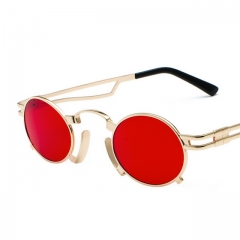Small box punk wind sunglasses metal oval sunglasses 897