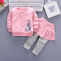 New spring girls cotton clothes suit