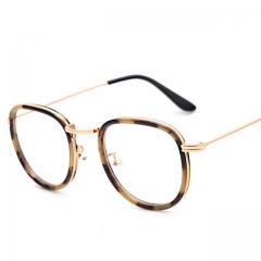 Retro College Wind Oval Frame Metal Thin Leg Frame Glasses BS8923