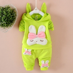 Spring and Autumn New Girls Cute Rabbit Long Sleeve Fashion Set