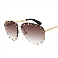 New fashion retro studded sunglasses 7037