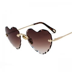 Gradient Love Frameless Sunglasses 7198