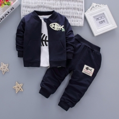 New children's spring and autumn Korean long-sleeved three-piece suit
