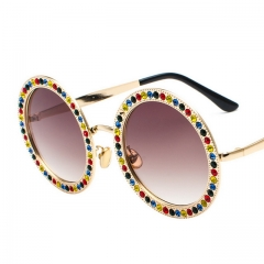 Round Diamond Ocean Sheet Multicolor Glasses 8026