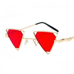 Punk wind triangle cutout sunglasses 890