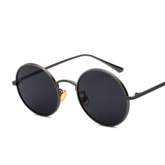 Metal round frame vintage punk wind sunglasses 8343