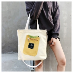 New ladies Korean version of the environmentally-friendly large-capacity canvas tote bag