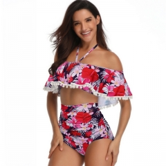 2019 new women's swimwear printed swimsuit bikini