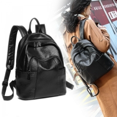 2020 new wild soft leather leather backpack bag leisure travel bag wholesale