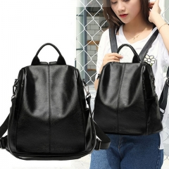 New Korean fashion wild leather small backpack casual bag girl pu soft leather