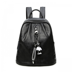 2020 new soft leather female bag backpack wild casual ladies Korean backpack
