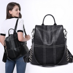 2020 new backpack women's casual women's bag fashion portable ladies travel student backpack