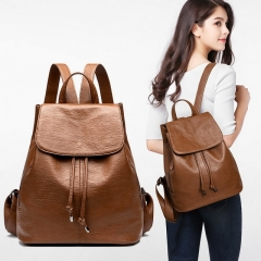 Leather shoulder bag female 2020 Amazon new trend leather bag soft leather student bag